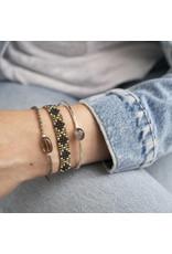 A beautiful Story Moonlight Smokey Quartz Silver Bracelet