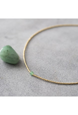 A beautiful Story Flora Aventurine Gold Necklace