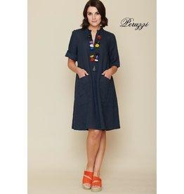 Peruzzi Linen Pocket Dress