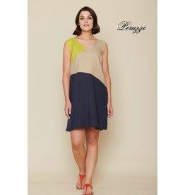 Peruzzi Linen Colour Block Dress