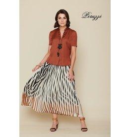 Peruzzi Pleat Print Skirt