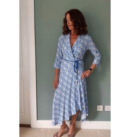 Exquise Blue V-Neck Dress