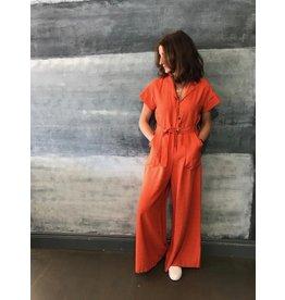 La Fee Maraboutee Tailored Orange Jumpsuit
