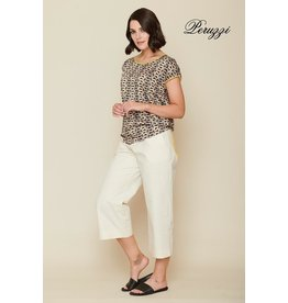 Peruzzi Cream Print Top