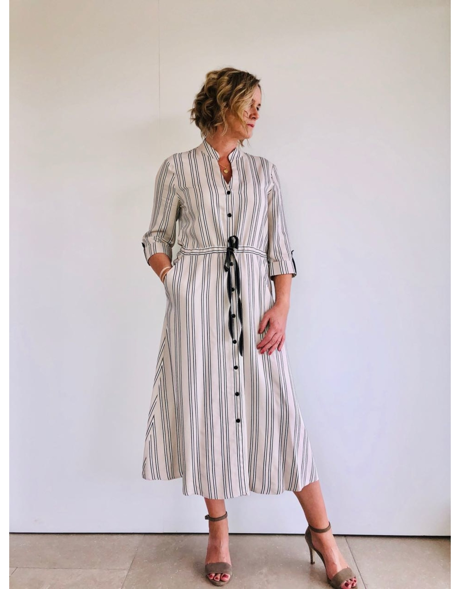 Fee G Stripe Shirt Dress