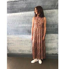 La Fee Maraboutee Terracotta Long Printed Dress