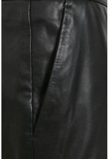 Culture Berta Black Leather Skirt