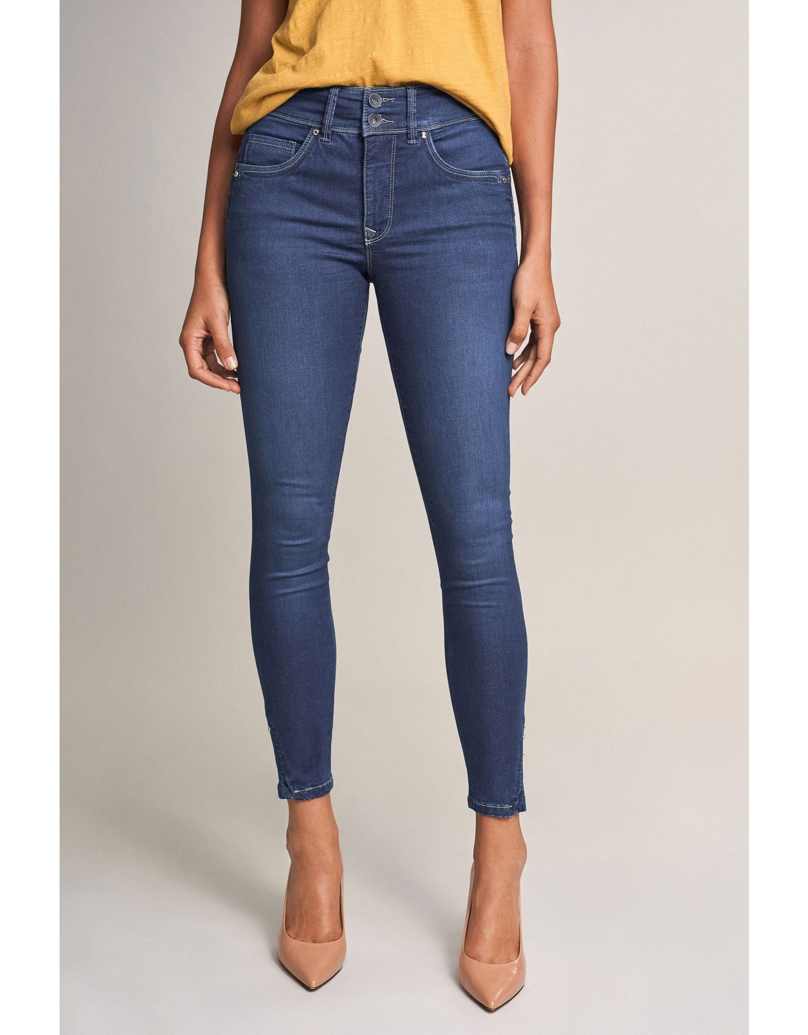Salsa Jeans Push In Secret Capri Jeans With Studs