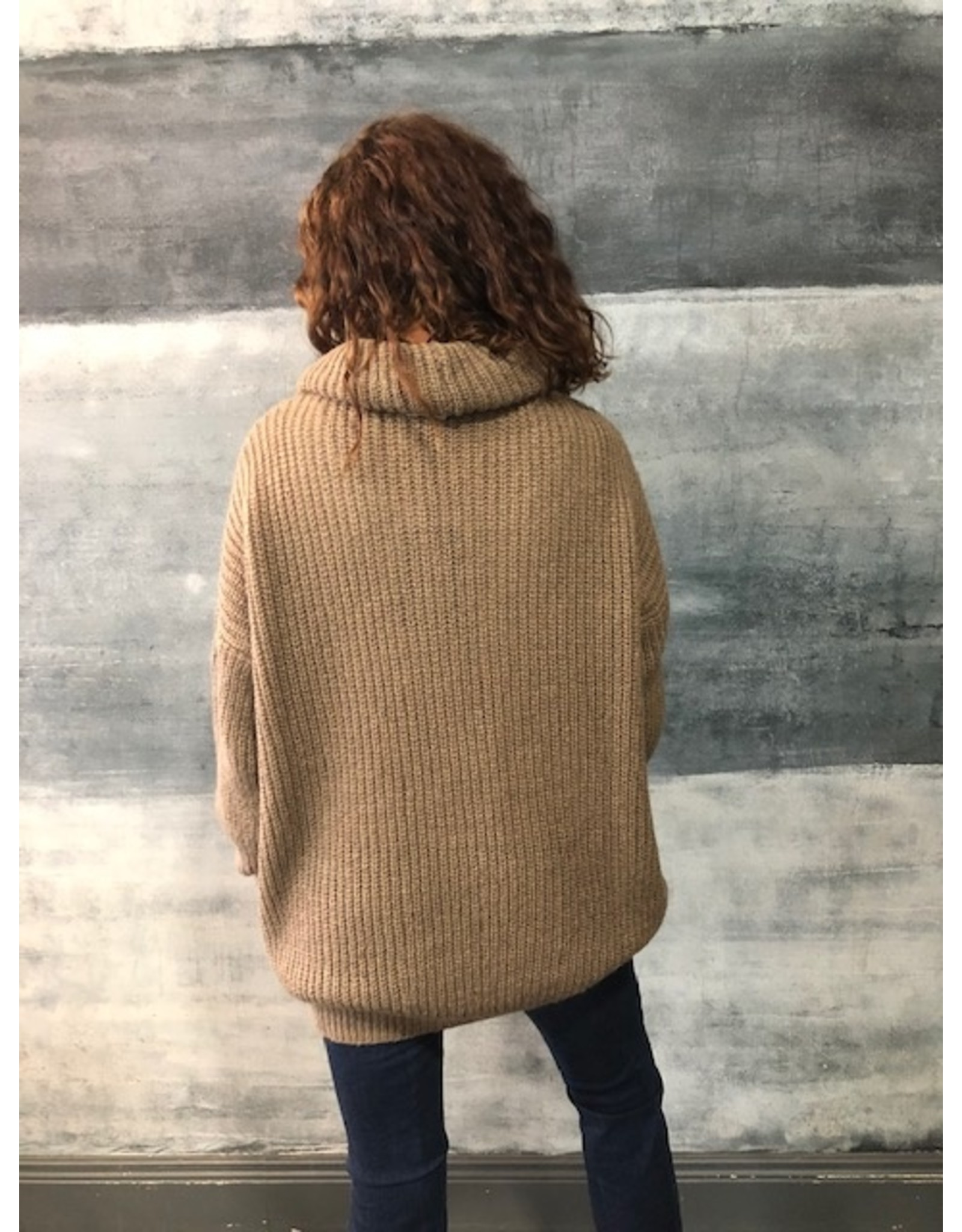 Humility Green Oversize Chunky  Knit Jumper