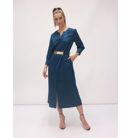 Fee G Shirt Dress with Gold Belt