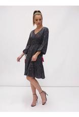 Fee G Fleck Print Dress with Godets