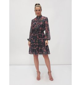 Fee G Flower Print Shirt Dress