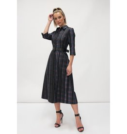 Fee G Check Shirt Dress