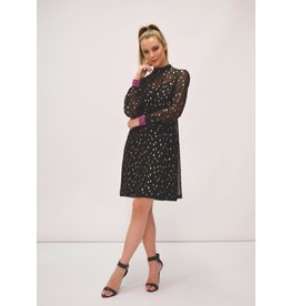 Fee G Lurex Sparkle Short Black Dress