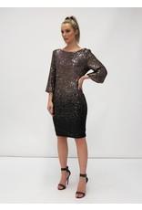 Fee G Short Dip Dye Sequin Gold Dress