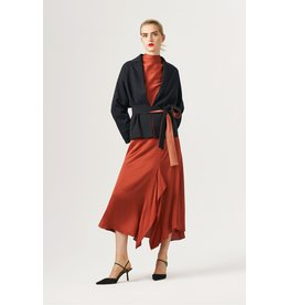 Exquise Wrap Style Belted Jacket