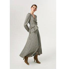 Exquise Ruffled neck layered dress