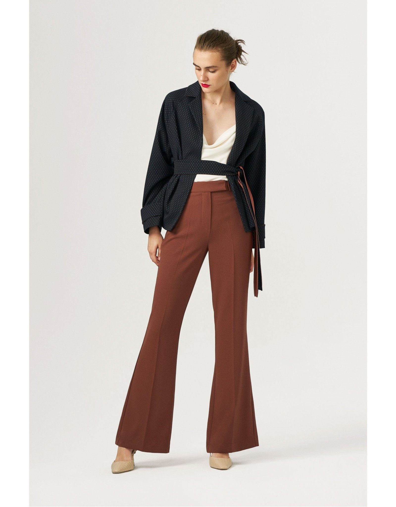 Exquise Brown Wide Leg Trousers