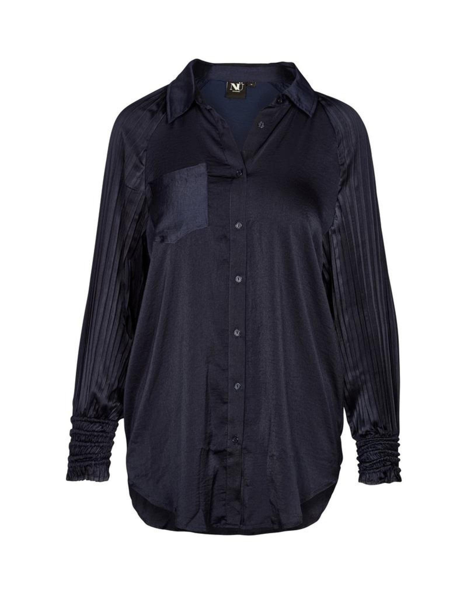Nu Denmark Eun Recycled Shirt Midnight Blue