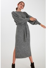 ICHI Ichi - Jordan Dark Grey Melange Dress - 20112590
