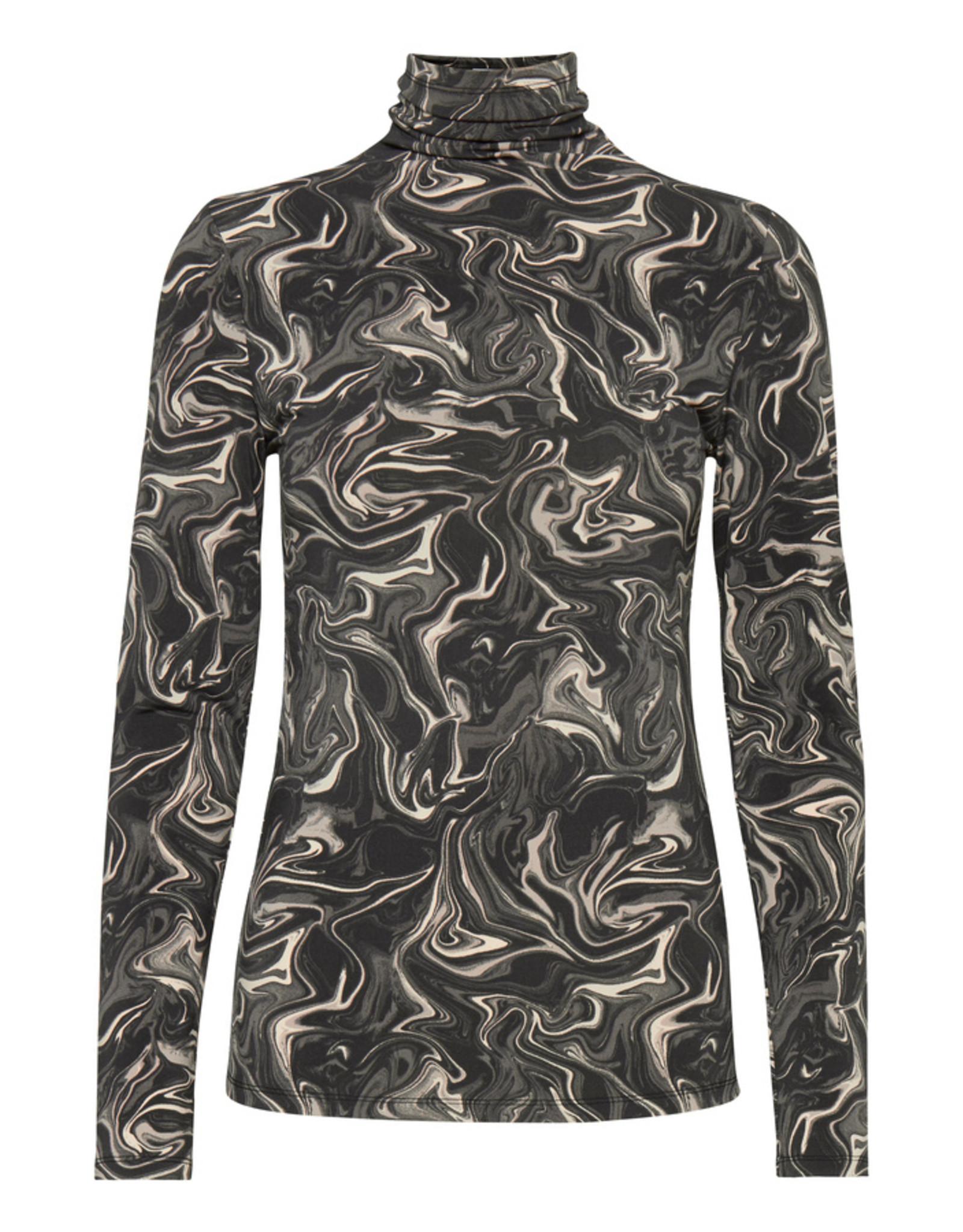 ICHI Long Sleeved Asphalt Top