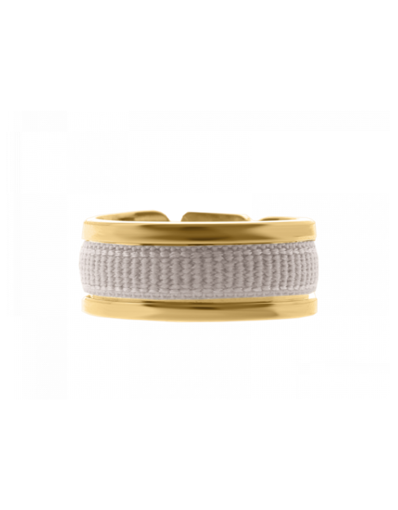 Les Interchangeables Ribbon Ring Grey on Gold