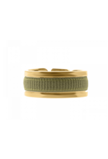 Les Interchangeables Ribbon Ring Khaki on Gold