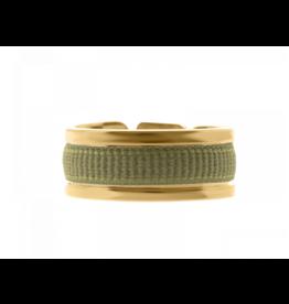 Les Interchangeables Ribbon Ring Khaki on Gold