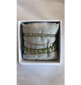 Les Interchangeables Strass Box, Silver 4 Bracelets