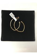 Les Interchangeables Gold Oval earrings