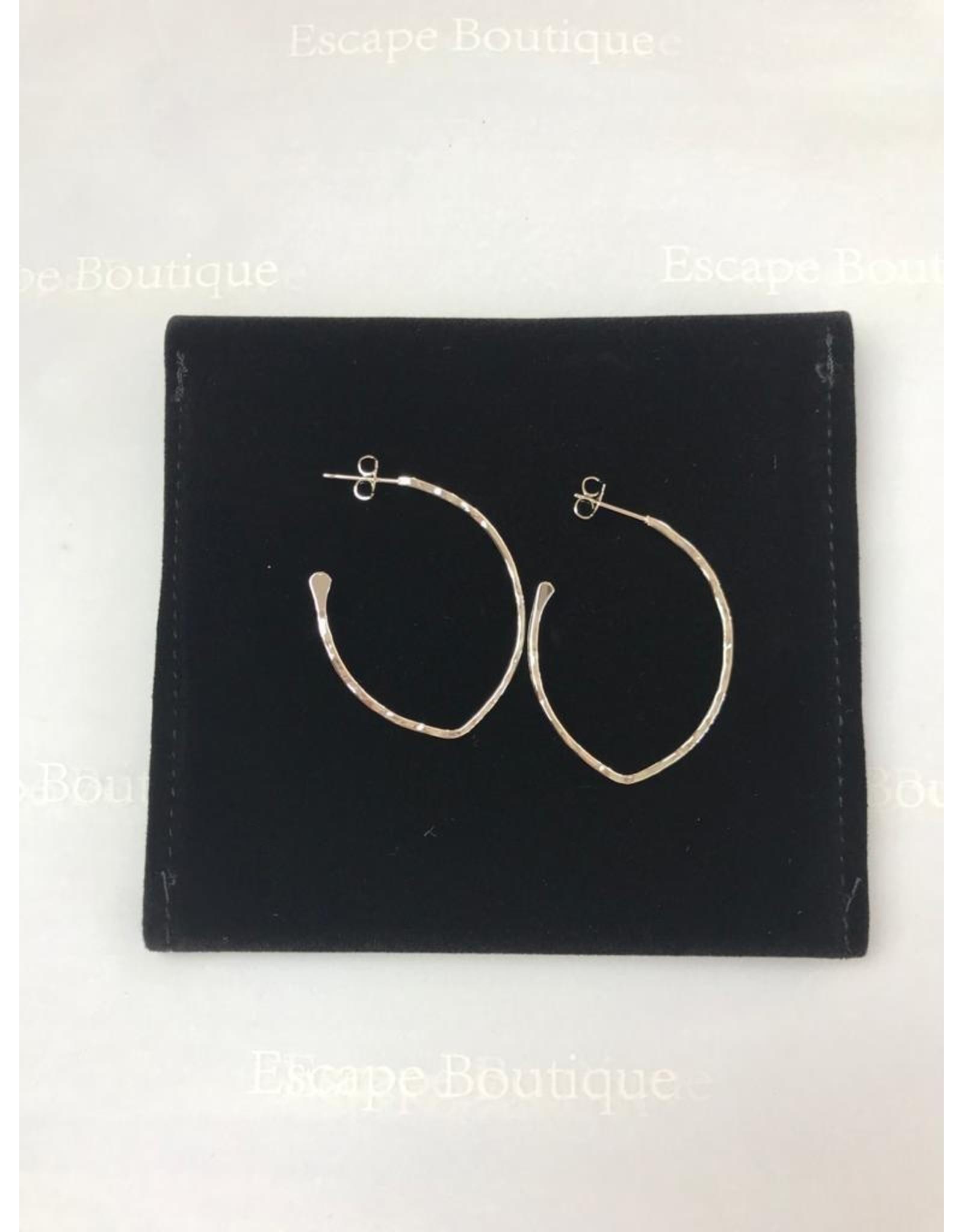 Les Interchangeables Oval Silver Earrings