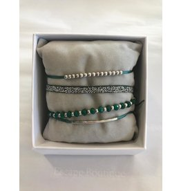 Les Interchangeables Strass Box La Malicieuse Green on Silver