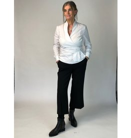 Peruzzi White Side Frill Blouse