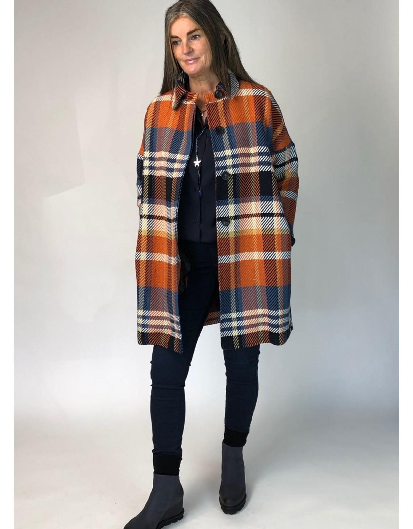 La Fee Maraboutee Oversize Wool Mix Check Shirt Jacket