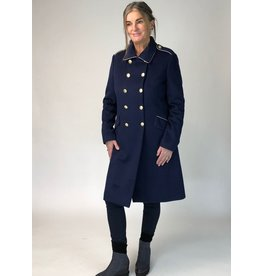 Peruzzi Admiral Blue Gold Button Coat