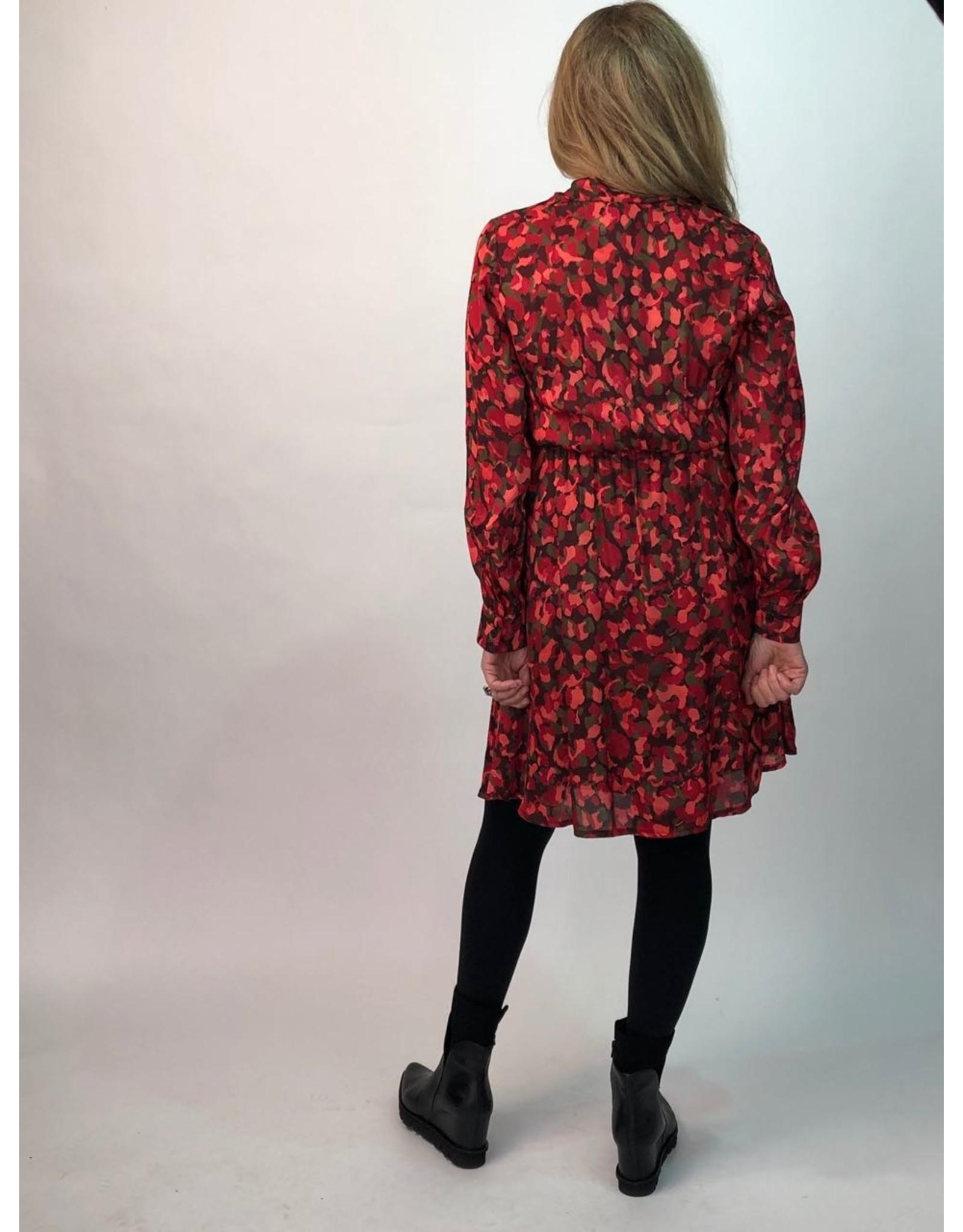 La Fee Maraboutee Long Sleeve Short Dress with V Neck