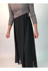 Peruzzi Black dress with Leopard Print Top