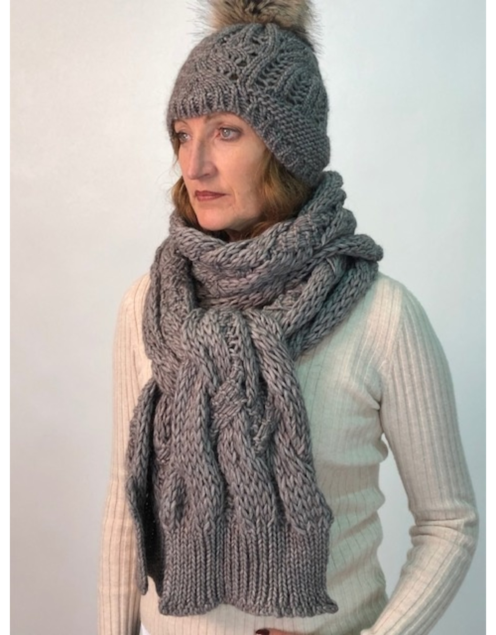 Humility Cable Knit Snood Scarf