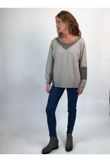 Sweatshirt with mesh detailing