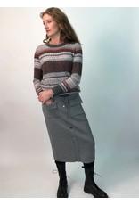 Peruzzi Grey Knit Skirt