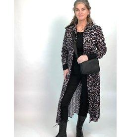 La Fee Maraboutee Animal Print Button Through Shirt Dress