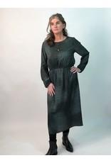La Fee Maraboutee Animal Print Round Neck Long Sleeve Dress