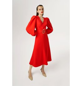 Exquise Exquise - Belted Bell Sleeve Dress