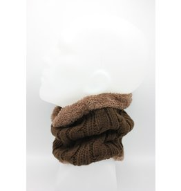 PARIS ES'TYL Cable Stitch Fleece Lined Snood