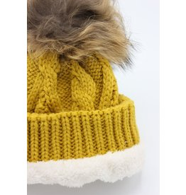 PARIS ES'TYL Fleece Lined Detachable Fur Bobble Hat
