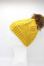 PARIS ES'TYL Fleece Lined Detachable Fur Bobble Hat