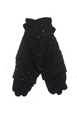 PARIS ES'TYL Glove with Knitted Fingerless Overlay