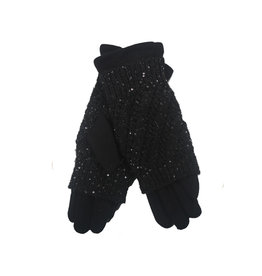 PARIS ES'TYL PAris EST'YL - Glove with Knitted Fingerless Overlay