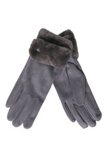 PARIS ES'TYL Fur Cuffed Gloves