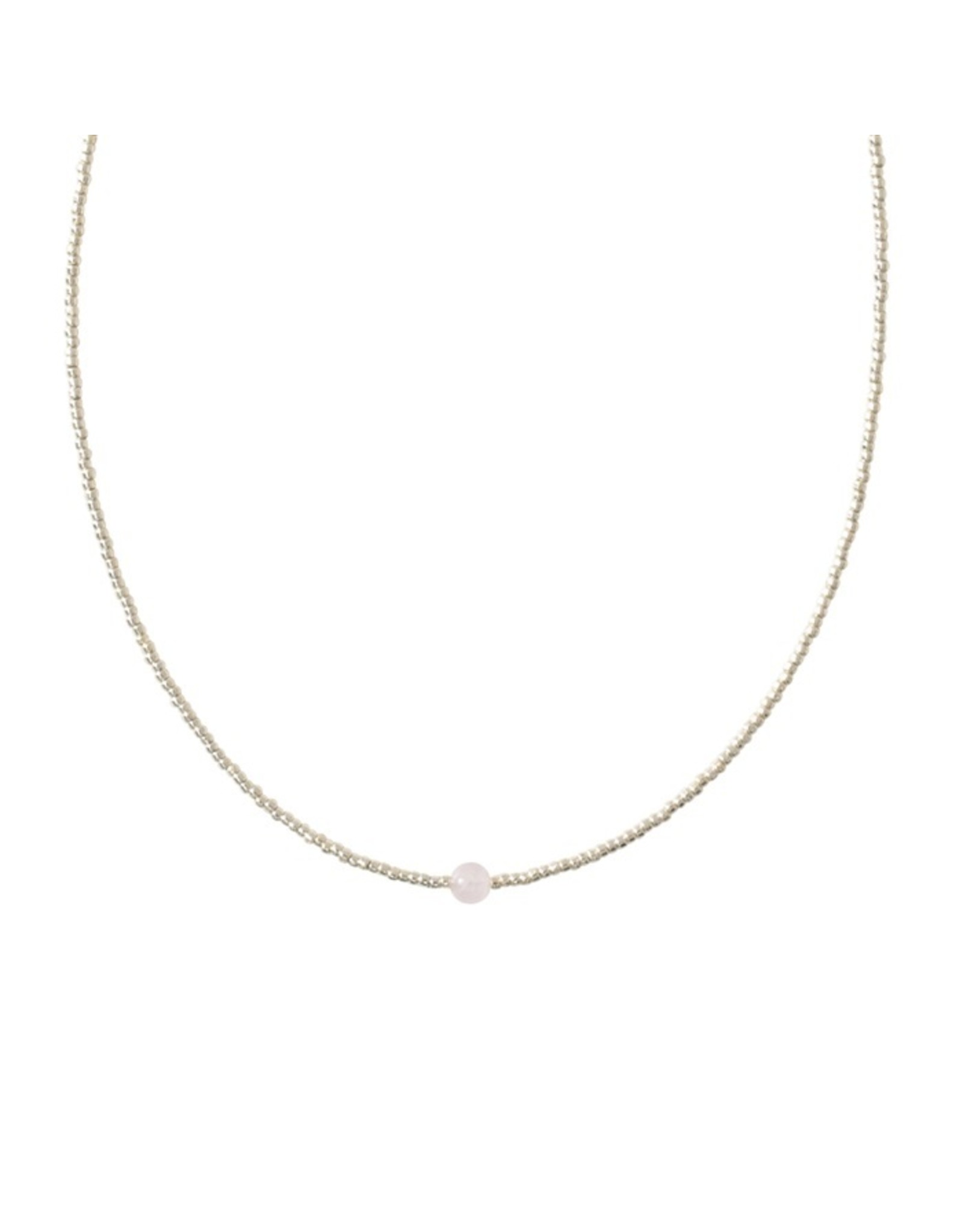 A beautiful Story Flora Silver Plated Necklace